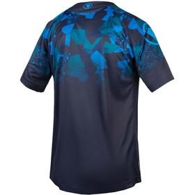 Endura SingleTrack Print Koszulka rowerowa Mężczyźni, navy
